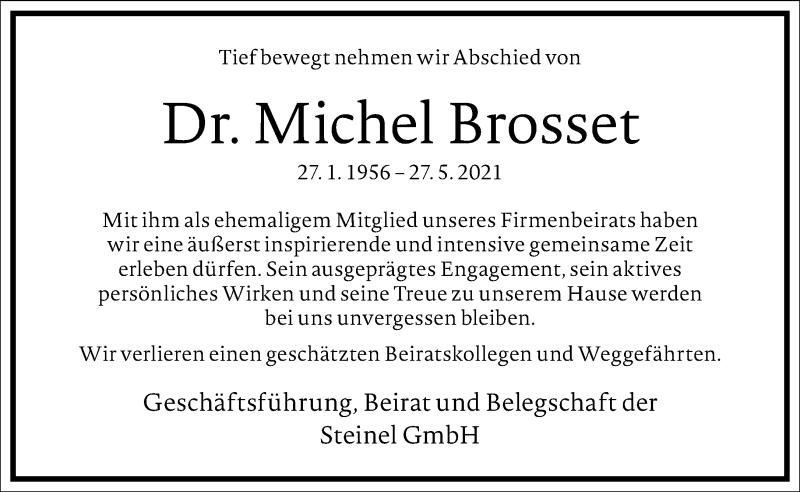 Traueranzeige für Michel Brosset vom 10.06.2021 aus Frankfurter Allgemeine Zeitung